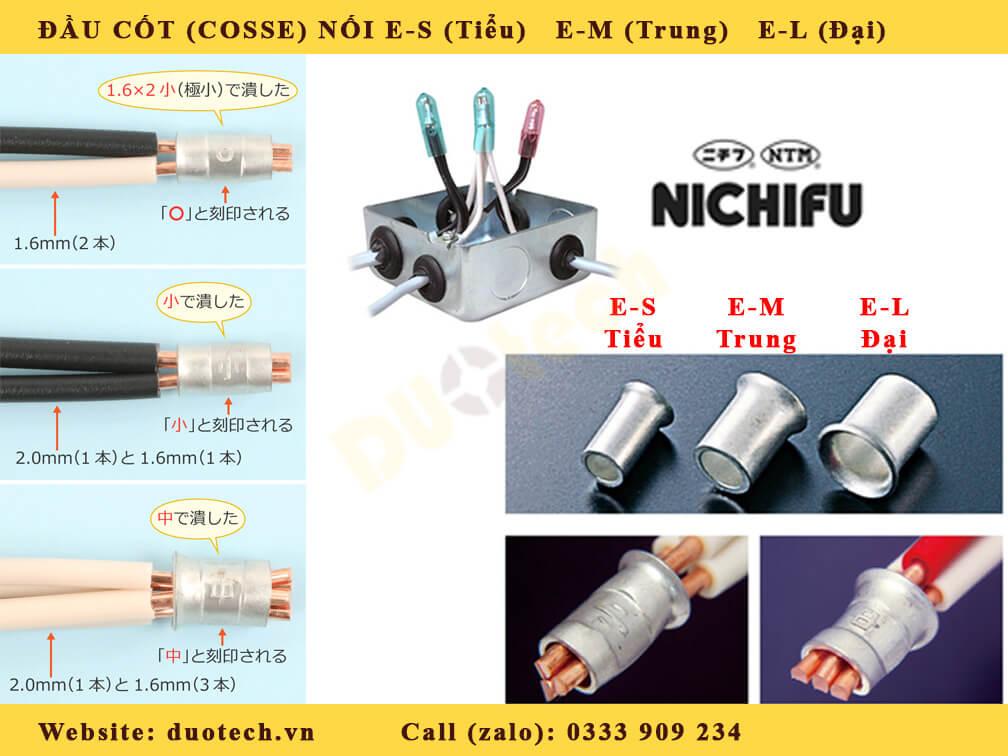 đầu cốt nối đại e-m; đầu cốt nối đại e-l nichifu; đầu cos đại e l nichifu; đầu cosse nối e-l nichifu; mua đầu cốt nối e-l nichifu